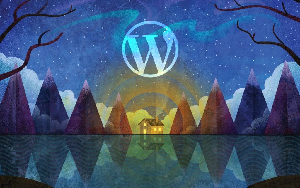 WordPress wallpaper created by Automattic
